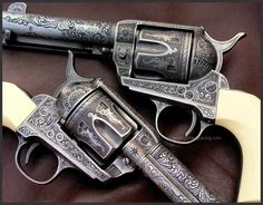 Engraved Pietta Colt 1873 Model, Reigel Gun Engraving
