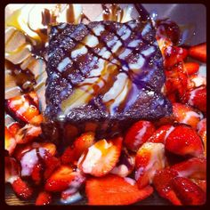 Dark Chocolate Brick Toast with Strawberries. Brick Toast, Strawberries, Acai Bowl, Chocolate, Dark, Breakfast, Check, Inspiration, Food