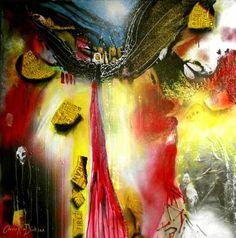 "Saatchi Art Artist Cherie Roe Dirksen; Painting, ""Cold Burn — Rock Art Series (Nirvana)"" #art"