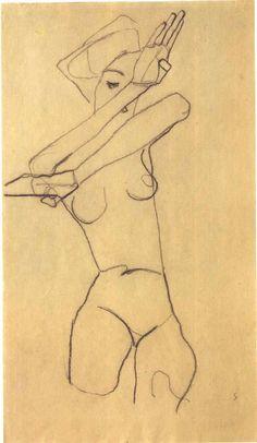 Art Inspiration: Figure Drawing by Egon Schiele Life Drawing, Figure Drawing, Drawing Sketches, Painting & Drawing, Art Drawings, Art And Illustration, Flower Illustrations, Gustav Klimt, Figurative Kunst