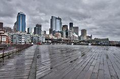 Seattle skyline from Pier 62 & 63