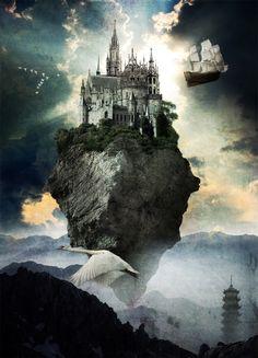 Flying Castle by Mondelfe