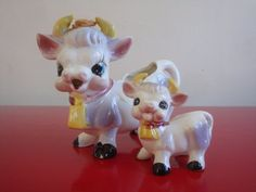 Borden Purple Cow Creamer and Shaker by PlayfullyVintage on Etsy,