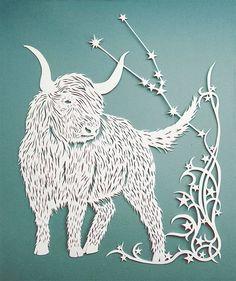 Van Gogh, Paper Cutting, Yearly Horoscope, Fibre And Fabric, Magazine Illustration, Fabric Art, Paper Art, Moose Art, Art Pieces