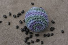 Free hacky sack pattern. Filled with dried beans.
