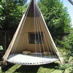 Trampoline tent, awesome!!!! who else camps on their trampoline???