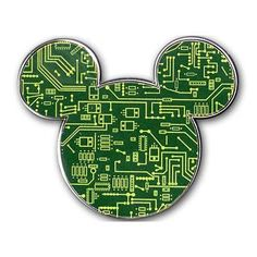 Your WDW Store - Disney Mickey Icon Pin - Circuit Board Mickey Mouse Icon