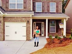 """Ms. McCray stands in front of her new home thanks to the #NACAPurchase Program. She took advantage of the interest rate buy down feature and got a fixed 2% interest rate! """"My cousin referred me to NACA when I shared with her my interest in purchasing a home. I am so thankful."""" #AmericanDream  2.151%APR"""