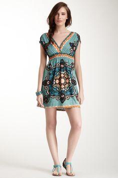 Print V-Neck Dress by She's Cool on @HauteLook