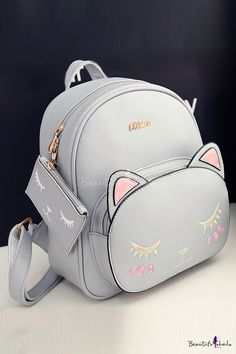 Lovely Cartoon Cat Printed New Fashion School Bags Backpack outfits to school Essential items : Lovely Cartoon Cat Printed New Fashion School Bags Backpack outfits to school Essential items Cute Mini Backpacks, Stylish Backpacks, Backpack Bags, Leather Backpack, Fashion Bags, Fashion Backpack, Cartoon Bag, Back Bag, Girls Bags