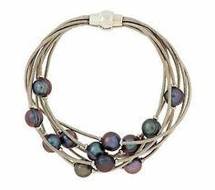 Honora Cultured FreshwaterPearl Multi-strand Scattered Pearl Bracelet