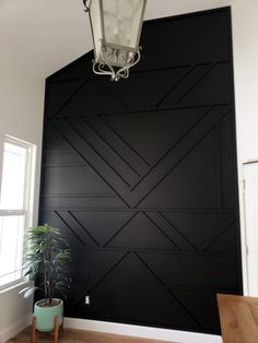 Modern Accent Wall Modern Accent Wall Madsen Remodeling MadsenRemodel House Interiors Just finished up this smaller but super cool accent wall Black Wall nbsp hellip Home Renovation, Home Remodeling, Kitchen Remodeling, Cheap Home Decor, Diy Home Decor, Decor Room, Bedroom Decor, Black Walls, My New Room