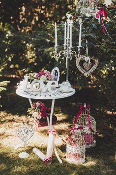 Воздушная свадьба в стиле прованс: Михаил и Наталья