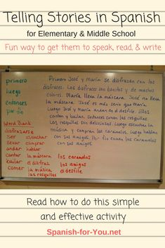 If you're looking for a way to get your students to speak Spanish and use their vocabulary, conjugated verbs, and grammar concepts in a creative, open-ended way, try telling a made-up story together. Read my blog post to see how to do this and how you can focus on specific material you want to practice.