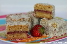 White Chocolate Lamingtons #AnAussieWithCrohns