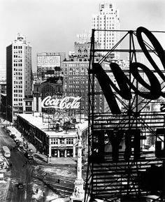 Columbus Circle (photo by Berenice Abbott ~ 1936)