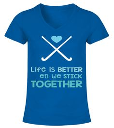 Life is better - Hockey shirt 2017 (V-neck T-Shirt Woman - Royal Blue) #legging #men #outdoors hockey training, ice hockey, hockey diy, dried orange slices, yule decorations, scandinavian christmas Field Hockey Drills, Hockey Tournaments, Youth Hockey, Ice Hockey, Quotes Girlfriend, Hockey Decor, Hockey Training, Hockey Quotes, Hockey Shirts