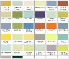"""Newsflash: California Paints introduces """"the most authentic historic color collection ever created"""" including 55 mid-century colors - Retro Renovation Mid Century House, Mid Century Style, Cabinet Medical, Modern Skyscrapers, Craftsman Interior, Interior Paint Colors, Modern Paint Colors, Paint Colours, Interior Design"""