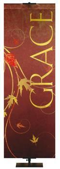 Autumn Faux Foil Banner Grace