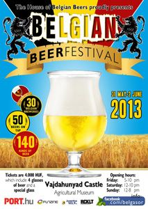 Belgian Beer Festival in City Park, Vajdahunyad Castle, Budapest, 31 May-02 June, 2013.