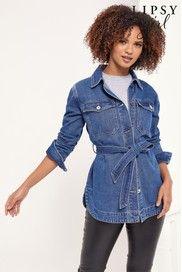 Denim Belt, Belt Tying, Lipsy, Uk Online, Blue Denim, Must Haves, Jeans, Cotton, Jackets