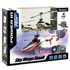 Sky Mega Hawk 4-Channel Remote Control transmitter Gyro Helicopter!