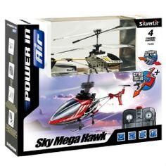 Sky Mega Hawk 4-Channel Remote Control transmitter Gyro Helicopter!