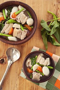 """My favorite soup: Pork Sinigang: Traditional Filipino dish, """"extra sour please"""" Filipino Dishes, Filipino Food, Filipino Recipes, Asian Recipes, Asian Foods, Pork Sinigang, Pork Recipes, Cooking Recipes, Philippines Food"""