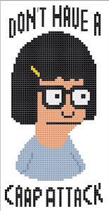 Tina Belcher  Don't Have A Crap Attack Cross by TVCrossStitch, $48.25