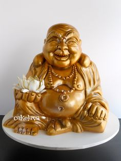 This is a cake!! cakelava: Gold Buddha Cake for a Vow Renewal