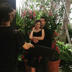 A day at the office. BTS shoot for #DGLightBlue #BiancaBalti #DavidGandy #MiamiBeachEDITION cc @camillefinnegan