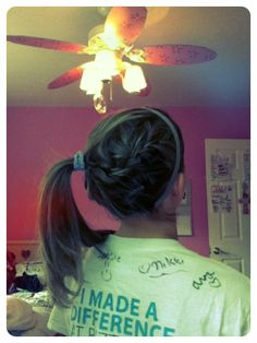 My softball hair