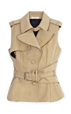Sleeveless Trench Top by Bouchra Jarrar  #fashion
