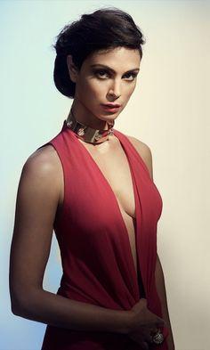 Hot, brunette, Morena Baccarin, American actress, 480x800 wallpaper