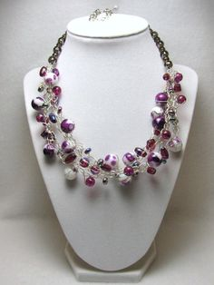 Plum Purty - Jewelry creation by Linda Foust