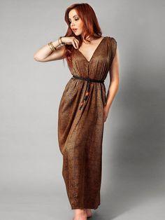 Fashioning Change - Grecian Silk Maxi Dress, Handmade and Sweatshop Free