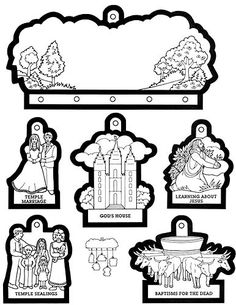 lds pictures to color   temple coloring page   LDS Lesson Ideas