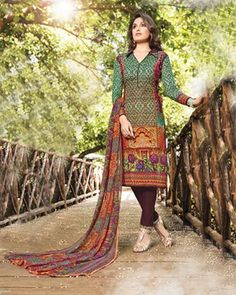 "D-Onlineshop on Twitter: ""Vijay Indian Cambric Cotton Printed Unstitched Shalwar Suit - Green By Wear & Wow ONE SIZE ৳ 2,080.00 Shop at Now:"