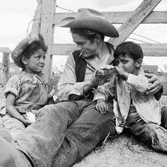 """jamesdeaner: """"Down in Marfa, we had a little Mexican friend we called Muchacho. He was about 7, and every day he'd come up to us and say, in as deep a voice he could, """"Allo, Señors."""" Jimmy was crazy..."""