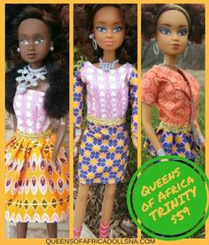 GOING ON NOW!!! Sweet September Sale on all Queens Of Africa-Black Nigerian/African Dolls Trinity Packs. Get $15 Off. US STORE ONLY; www.queensofafricadollsna.com