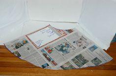 Use newspaper to make pattern!!