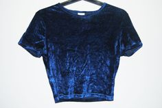 Dark Blue Velvet Top