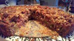Tværsnit rabarberkage
