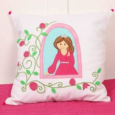 "Simply Enchanted - White Collection Princess 16"" x 16"" Cushion Cover"
