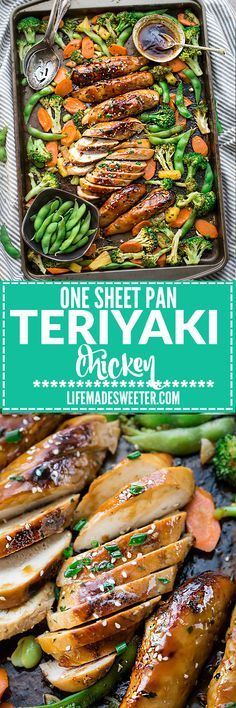 One Sheet Pan Teriyaki Chicken with Vegetables makes the perfect easy weeknight meal! Best of all, everything cooks up onto just ONE sheet pan in just 30 minutes with minimal cleanup! So much easier, healthier and better than takeout!