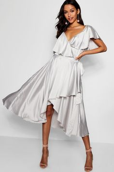 Luxe classe nude or beige soie plongeant robe à manches longues 6 8 10 12 14