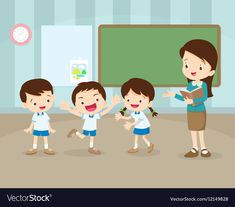 Classroom with teacher and pupils.teacher teaching students in classroom,world book day, Teacher Teaching Students, Back To School Stationery, College School Supplies, Kids Vector, Book Stationery, Education And Training, Cartoon Pics, Clipart, Preschool Activities
