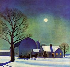 "cover art by Rockwell Kent from ""Country Gentleman"" magazine, December 1943"