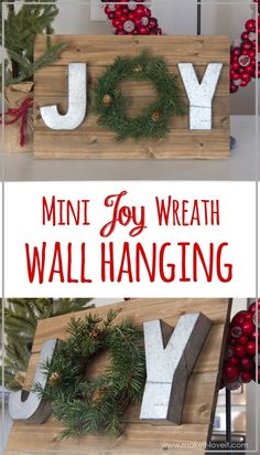 Make a MINI JOY WREATH wall hanging | Make It and Love It