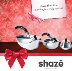 Let the newlywed couple start a new life with your love and support.  And what better way to convey your good wishes than a useful and valuable gift like this charming Silver Dove Tea Set.  For more gifting options visit www.shaze.in